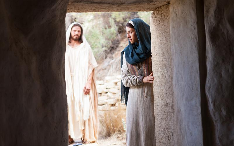 JESUS AND MARY MAGDALENE AT THE TOMB